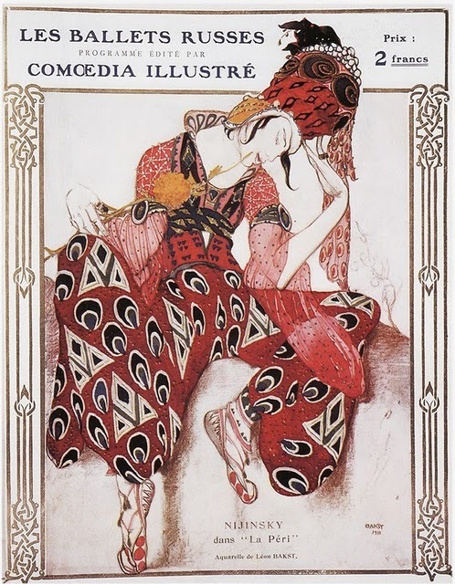 Scheherazade, 1910 Russian painter, set & costume designer of the Ballets Russes, Leon Baskt (1866-1924)