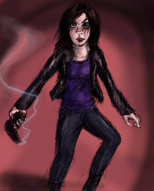 Fanart Friday! Torchwood, tonight, in honor of the premiere. (8 minutes left… I'm not so good at this 'Friday' part.) My first attempt to draw Gwen Cooper is neither terrible nor wonderful. It doesn't look all that much like Gwen, does it? I blame the hairstyle. Stupid Miracle Day got rid of her cute bangs! Though it was very good. Go watch it! Maybe by next week I'll have her and the rest of the cast down (I've already managed Jack once, though in a different context).