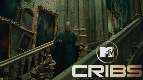 malfoymalfunction:      Hey MTV, I'm Lord Voldemort. Welcome to my crib!