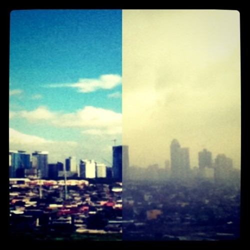 """Before and After"" @igersmanila #igersmanila #manila #sunny #rainy (Taken with Instagram at Metro Manila, Philippines)"