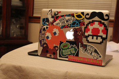 mac……=with lots of stickers ;o