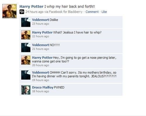 HAHAHA! Nice one Harry!
