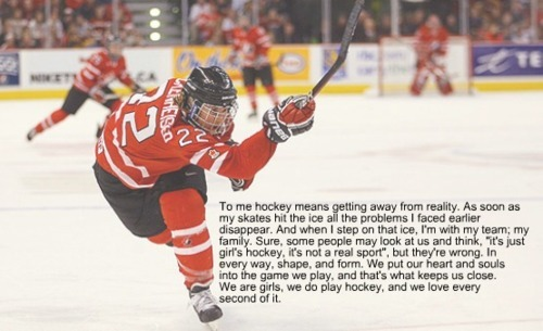 To me Hockey means… by:justahockeyplayingcowgirl