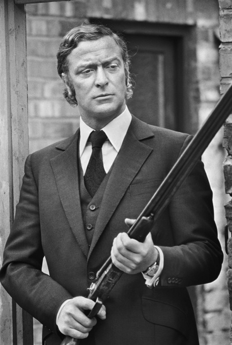 Michael Caine on the set of Get Carter. Newcastle, 1971.