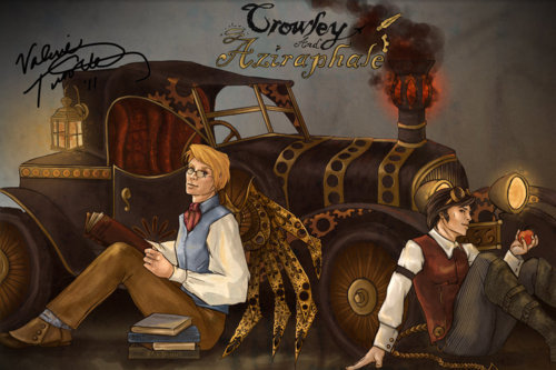 fawkes-in-flames:  Steampunk Good Omens by Kyriadalyn