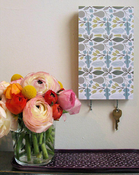 diy project: patterned key rack | Design*Sponge