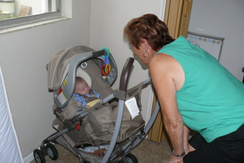 Jude hung out with Great Grandma while we did all the moving