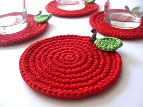 Red Apple Coasters As Featured on Etsy Finds Cherry by MariMartin