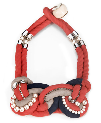 Dress up a white tee and jeans with this hand-worked necklace by Lizzie Fortunato Jewels, $425, available at charmandchain.com.