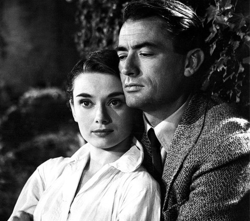 finestrasulcortile:  Audrey Hepburn and Gregory Peck in Roman Holiday [1953]