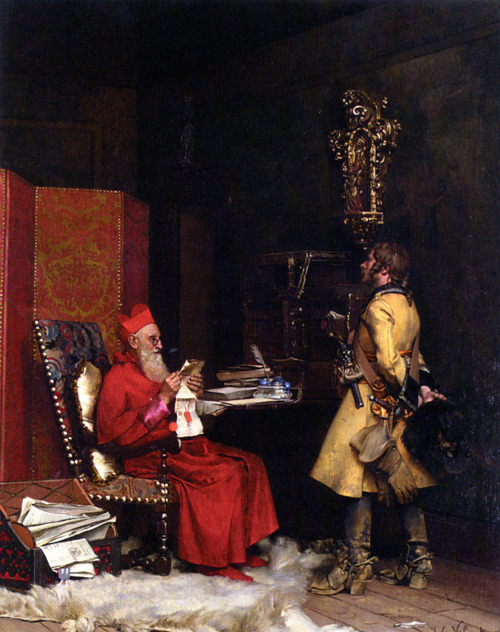 welovepaintings:  Jehan Georges Vibert (1840-1902)Un Secret D'etatOil on canvas1875Private collection