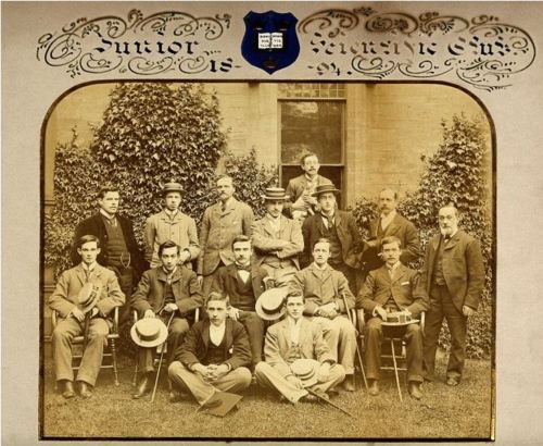 "ca. 1894, ""Oxford University: the Junior Science Club"" via the Wellcome Library, Iconographic Collection"