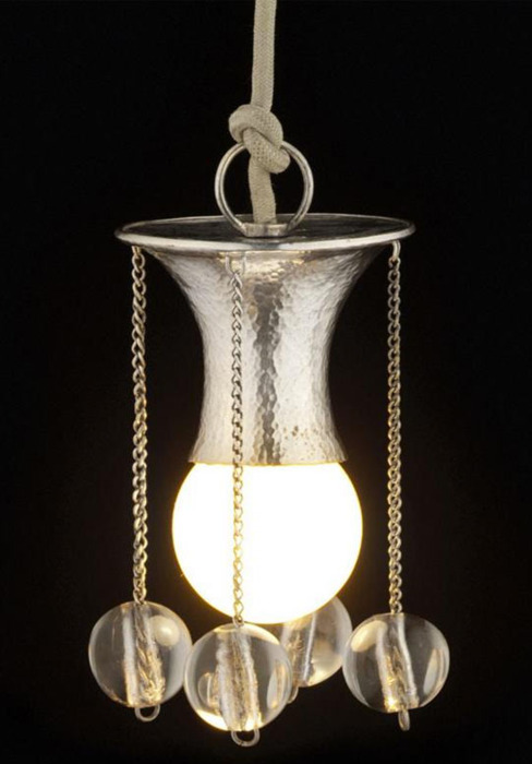 Nightlight. hanging lamp designed by Josef Hoffmann, 1904
