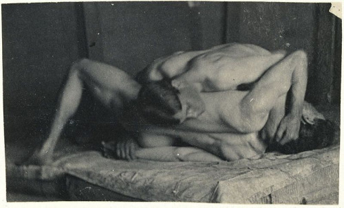 "Thomas EakinsPhotographic study for ""The Wrestlers""ca. 1895 (via Before The Dawn of Tom @ advocate.com; see also)"