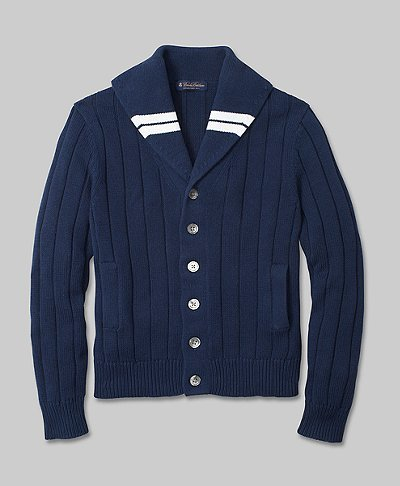 thetieguy:  awesome cardigan.