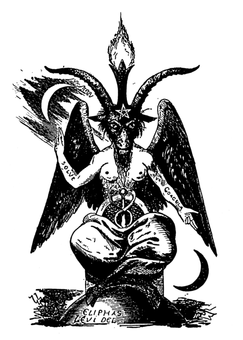 "Baphomet by Eliphas Levi  Solve et Coagula: first tenet of Alchemy  …so on a scale of one to Taylor Momsen, how trying-too-hard would it seem if I had ""Solve"" and ""Coagula"" tattoos on my forearms?"
