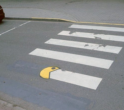 samuraifrog:  Pac-Man On The Streets.