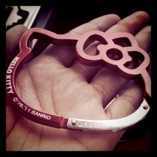 #hellokitty carabiner, yes please! #HK #obsession (Taken with Instagram at Sanrio)