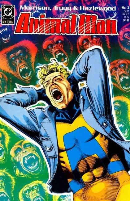 ANIMAL MAN (1988) ISSUE # 2  cover by Brian Bolland  written by Grant Morrison art by Chas Truog and Doug Hazlewood.