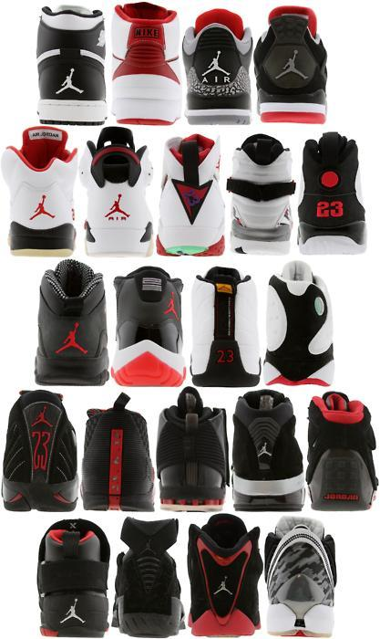 Backside Of Air Jordan From 1 To 22 …