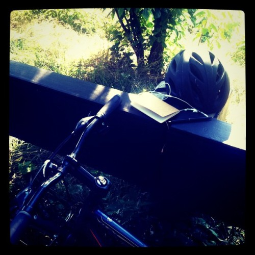 What I carry #bikepath  (Taken with Instagram at Gw Bridge)