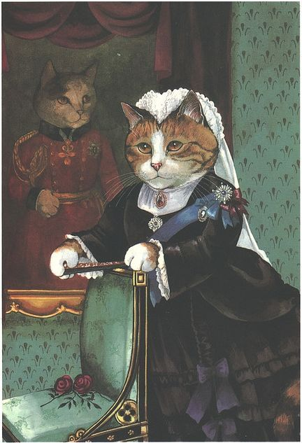 Victorian Cat as a real person. This is beautiful.