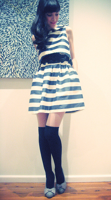 Fashion Friday: Stockings and stripes by ishandchi on Flickr.