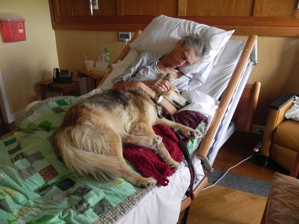 "harvestheart:  A dying man's last wish: To see his dog  Yurt used to live with a homeless Cedar Rapids man, 57-year-old Kevin McClain, in his car. But a month ago he became ill with lung cancer. Paramedics rushed him to Mercy Medical Center and later to Hospice House. Yurt went to the animal shelter. ""In the transition of moving him over from our ambulance cot to the bed, he told me, 'I have a dog,'"" said Area Ambulance Service Paramedic Specialist Jan Erceg.… From the day Yurt and Kevin were separated, he asked to see her.…"