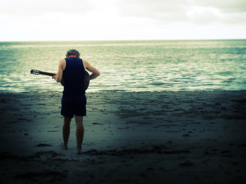 music at the beach! <3 (picture taken 2008, queensland australia)