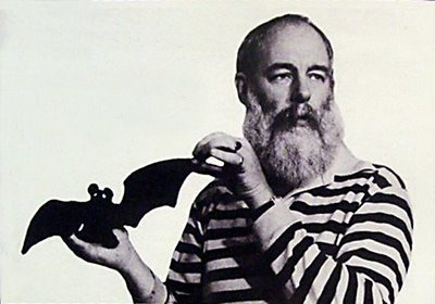 gothiccharmschool:  Edward Gorey and companion. Heeeeyy, I have one of those toy bats!   So much love.
