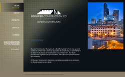 Bouwer Construction is a general contractor that specializes in remodeling multi-unit residential buildings. The project scope consisted of first building an identity and logo, then print and web marketing materials such as business cards, letterheads, signage, banners, and a website. The client needed to separate themselves from the more common kind of contractor that builds homes, since they deal with large-scale building projects.   tools: jquery, html, css, flash, photoshop, illustrator, submission forms