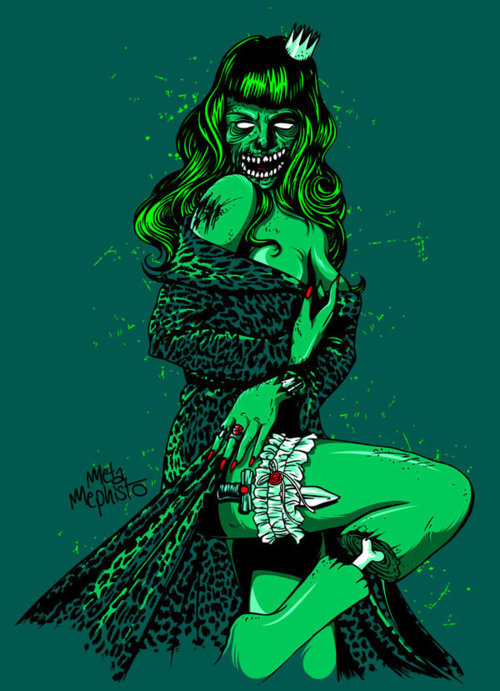 green pin up zombie