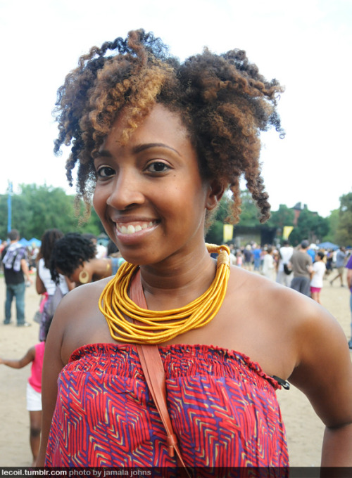 Tracey, Director of Events for the (awesome!) Curly Girl Collective, at the Fort Greene Festival in Brooklyn.