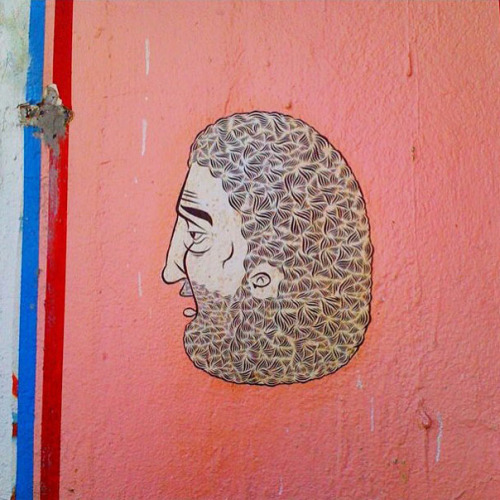 Detailed piece by Barry McGee aka Twist spotted in Miami's Wynwood Art District