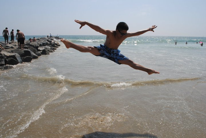Doing a tilt at the beach!@joshposhpgosh.tumblr.com