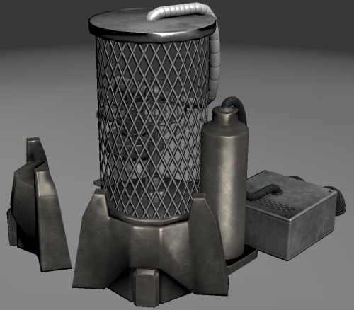 Realtime version of the reactor model, looks nice but I suck at the 3point shader (lite) and was lazy about it