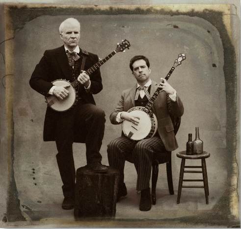 laughingsquid:  Steve Martin and Ed Helms Photographed by Sam Jones for Rolling Stone Magazine  this makes me happy.