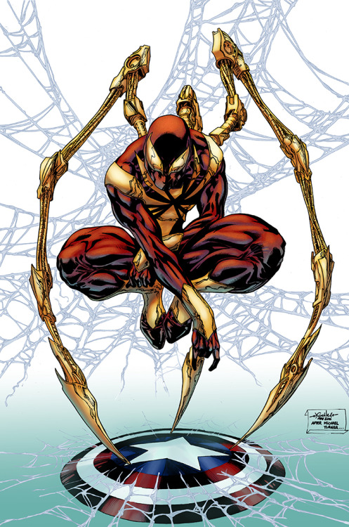 "comicsforever:  Iron Spider-Man // pencils and inks by Spiderguile (after Michael Turner), colors by Logicfun (2011)   My favorite alternate Spider-Man costume. It just screams ""awesome."""
