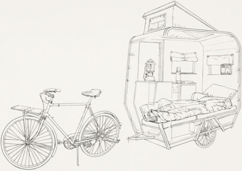A Mini-Camper For Bicycle Riders — The Pop-Up City