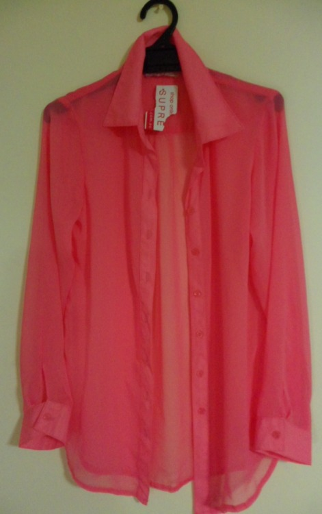 SUPRE CHIFFON SHIRTColour: PinkSize: 3XSCondition: Brand new with tagsSelling for: $10 SOLD