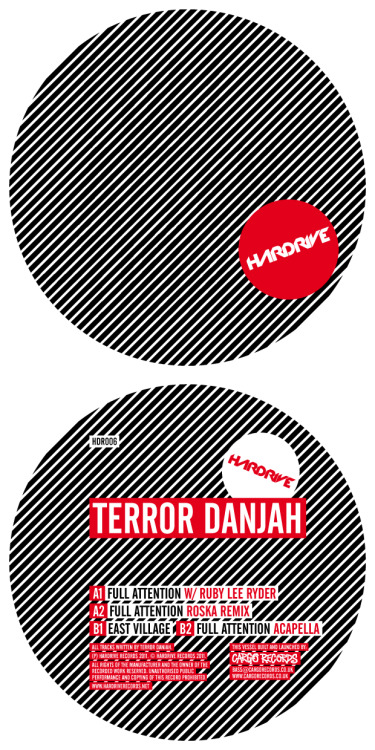 Terror Danjah & @RubyLeeRyder is to be the 6th release on @HardriveRecords with 'Full Attention' with a @MrRoska remix, released August 15th Vinyl Tracklist: A1) Full Attention - Full Vocal A2) Full Attention - Acapella  B1) East Village B2) Jekyll & Hyde   Digital Tracklist: 01) Full Attention - Full Vocal 02) Full Attention - Full Vocal (Roska Remix) 03) East Village  04) Full Attention - Acapella
