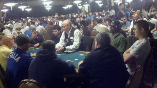 Pierce started out with 30k chips and ended the night with 62k chips.