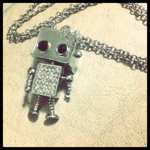 Robot necklace. #forever21 (Taken with instagram)