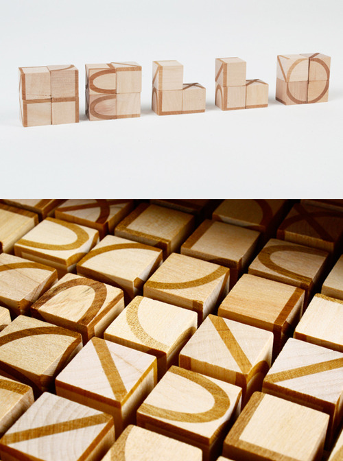 "visual-poetry:  ""one hundred cubes one alphabet"" by jori"
