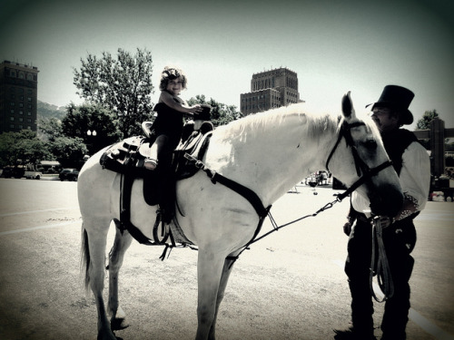 hunter rides on Flickr.My daughter got to ride a horse during the Wild West shootout in downtown Ogden, Utah.