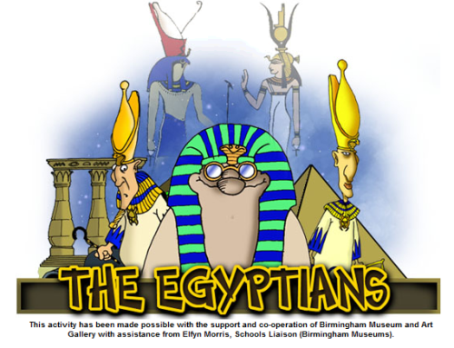 kbkonnected:  The Egyptians…neat interactive from the Birmingham Museum and Art Gallery.  Added to  Countries for Kids  Interactive site about the Egyptians. Site for history teachers!