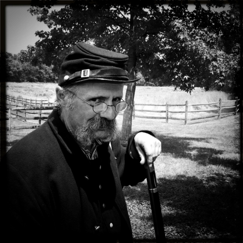 Union soldier at Monocacy National Battlefield, during an artillery demonstration for the anniversary of the Battle of Monocacy.
