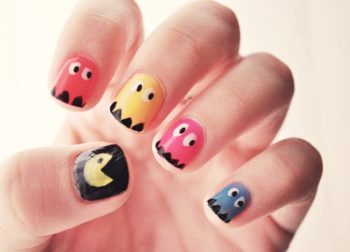 Packman nails, so cool.