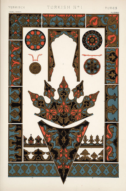 "Image Plate from Owen Jones' 1853 classic, ""The Grammar of Ornament"". by EricGjerde on Flickr."