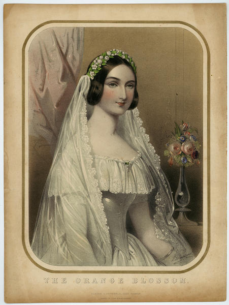 Music sheet cover for The Orange Blossom, ca 1850